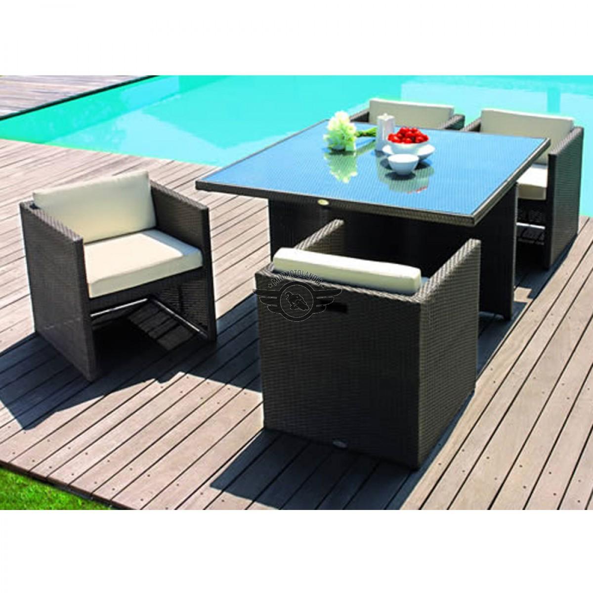 Tavolo sedie rattan sofa cubo minimotolandia - Set tavolo e sedie rattan ...