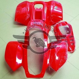 """Carena Rossa Per Quad Bamboo 110cc Cerchio 6"""" Kit Plastiche ATV"""