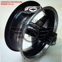 """Cerchio 6.5"""" Posteriore Nero Minimoto Mozzo 15cm"""