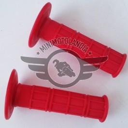 Manopole Coppia Set Rosse Per Minimoto E Pit Bike