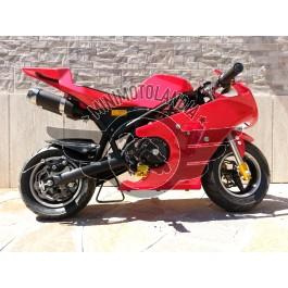 Minimoto GP2 Raffreddata Aria Motore 49cc Minigp Rosso