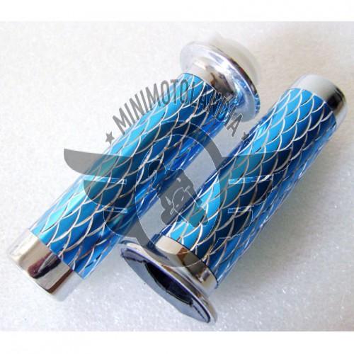 Manopole Cromate Blu