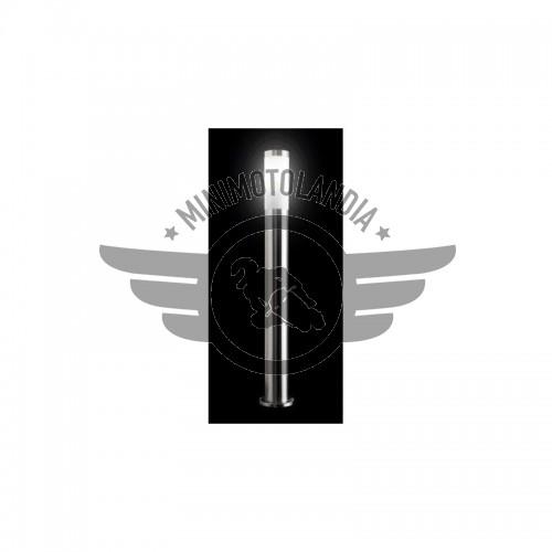 Paletto da Giardino Rotondo Acciao Lampada E27 LED Altezza 65cm