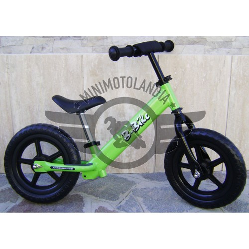 Bicicletta Verde Senza Pedali Pedagogica Equilibrio Bambini