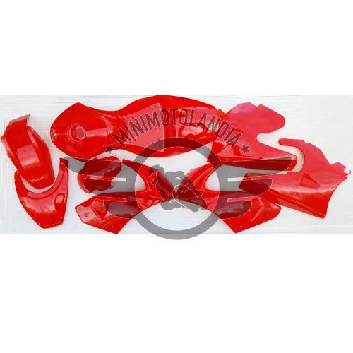 Carena Rossa Completa Per Minimoto Aria GP1 49cc