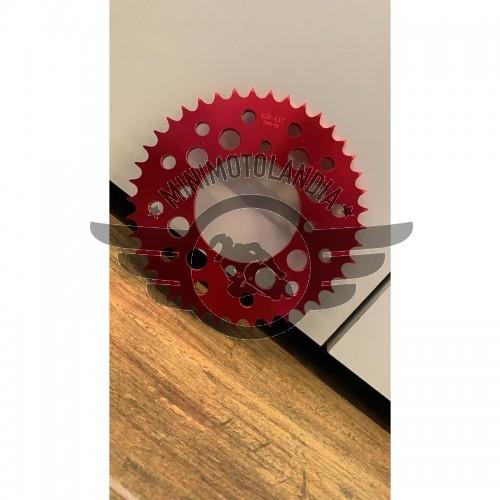 Corona 43 Denti Passo 420 Ergal CNC Rosso Attacco SDG Per Pit Bike