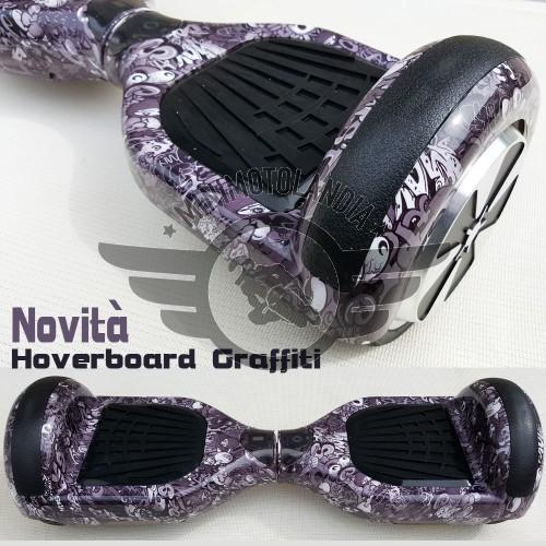 Hoverboard Mini Scooter Elettrico Auto Equilibrio Self Balancing Graffiti Rover Droid
