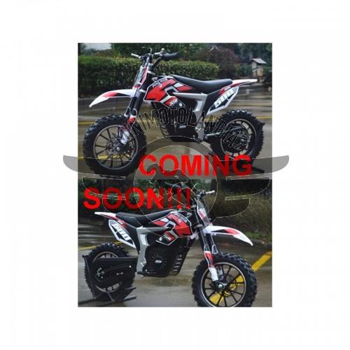 "Midicross Motore Elettrico 500W Minicross Lion 24V Batteria Cerchio 10"""