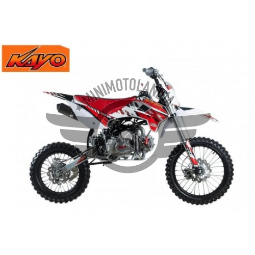 "Pit Bike KRZ 125cc KAYO Cerchio 17""-14"" Cross Racing 4 Tempi"