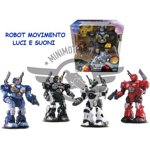 Robot Morf Blu Cammina Luci E Suoni + Robot Miniaction