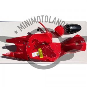 Carena Per Minimoto GP2 Raffreddata Aria 49cc Rosso