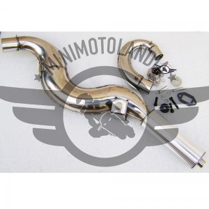 Marmitta Racing Jet Pro Silver Con Espansione Minimoto 49cc