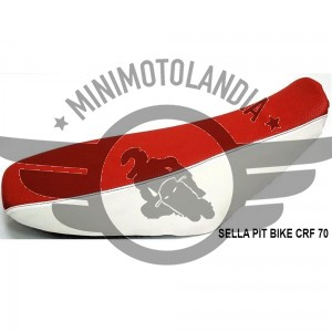 Sella Bianco-Rossa Per Carena CRF 70 Pit Bike