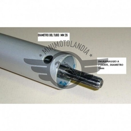 Asta 26mm Lunga 77cm Ingranaggio 7 denti per Decespugliatore Multifunzione