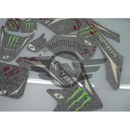 Adesivi Per Carena Pit Bike CRF 50 Grafiche Monster