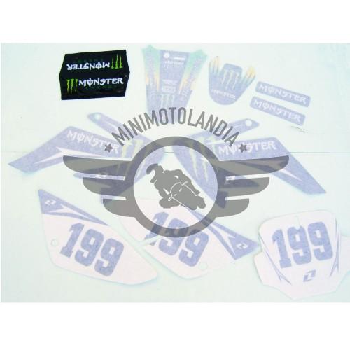 Adesivi Per Carena Pit Bike CRF 70 Grafiche Monster