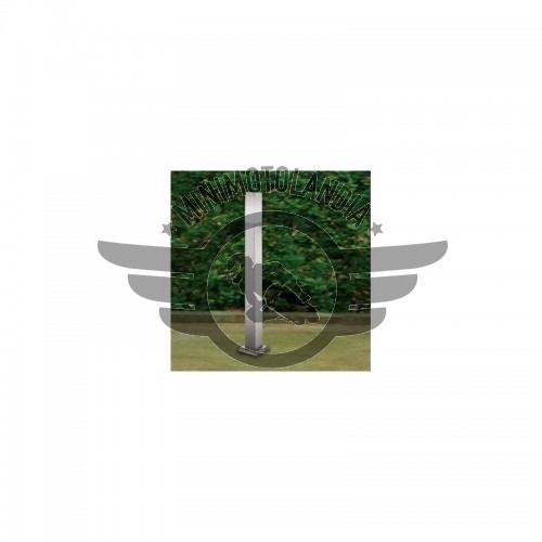 Paletto da Giardino Quadrato Acciao Lampada E27 LED Altezza 65cm