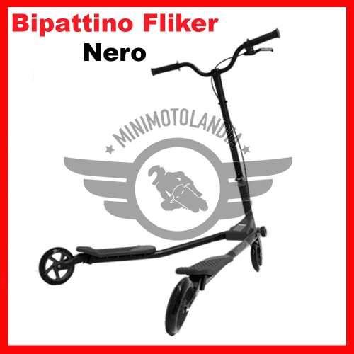 Monopattino Bipattino Nero Fliker 3 Ruote Bambini