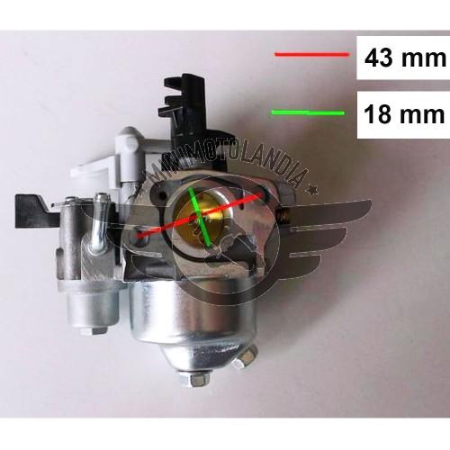 Carburatore Per Motozappa Motore 6,5 HP 196/200cc