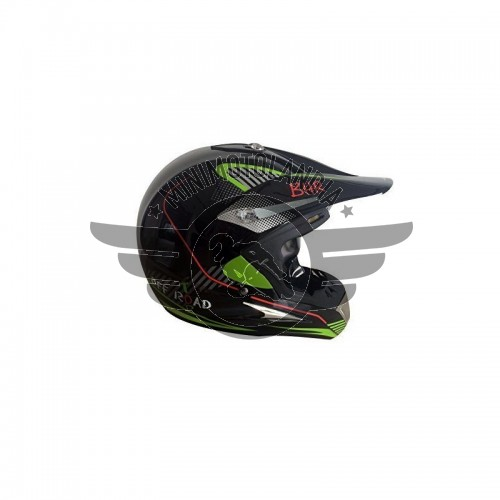 Casco Cross BHR Taglia L Nero/Verde Cross Minimoto