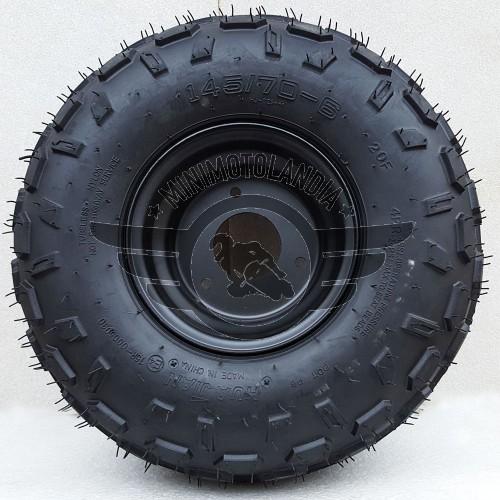 """Cerchio+Gomma Pneumatico 145/70-6"""" Quad ATV Miniquad"""