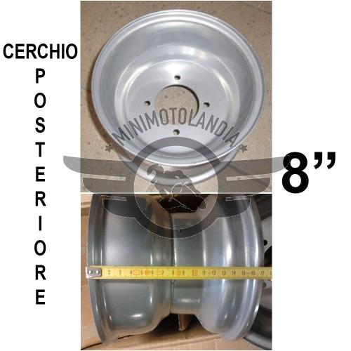 "Cerchio Posteriore 8"" Per Gomma Quad ATV 18X9.5-8"""