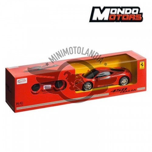 Auto Ferrari 458 Rossa Radiocomandata Scala 1:24