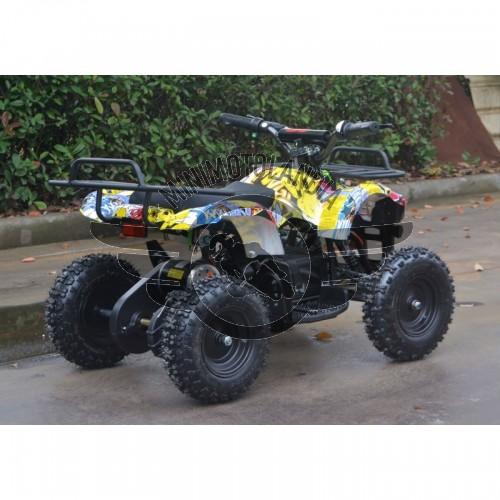 """Miniquad Dragon ATV Elettrico Batteria 500W 36V Cerchio 6"""""""