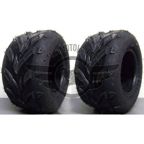 Coppia Gomme Quad Pneumatico Tubeless 16x8-7""