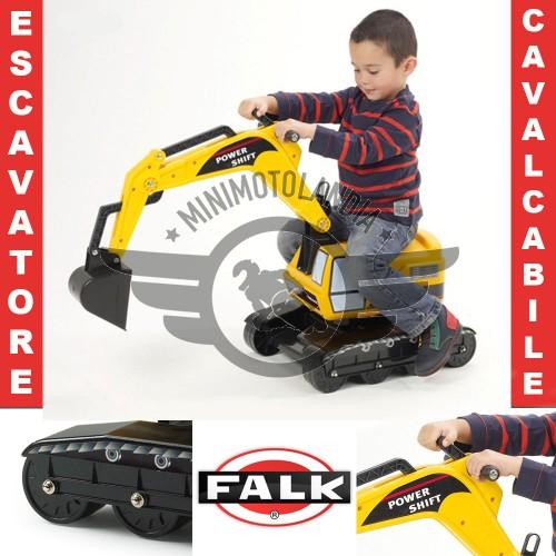 Escavatore Ruspa Cavalcabile Falk 330D Gioco Bambini