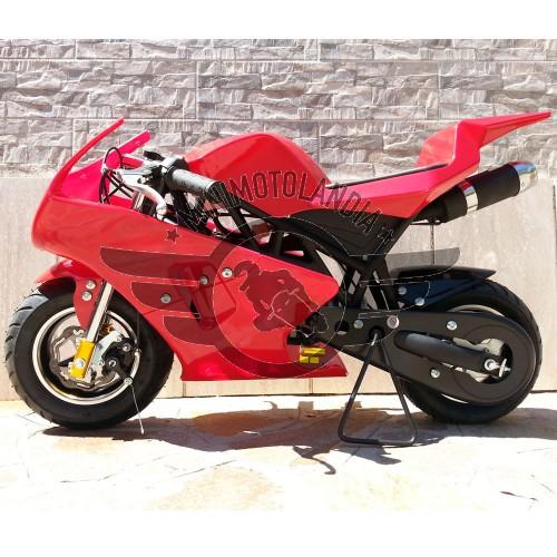 Minimoto GP2 Rossa Raffreddata Aria Motore 49cc
