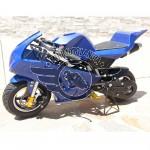 Minimoto GP2 Raffreddata Aria Motore 49cc Minigp Blu