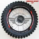 """Cerchio 14"""" Anteriore In Alluminio Con Gomma Pit Bike"""