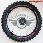 """Cerchio 17"""" Anteriore con Gomma Pit Bike Perno 15mm"""