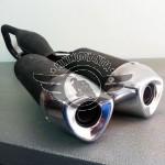 Marmitta Doppio Scarico Per Minimoto GP2 Aria 49cc